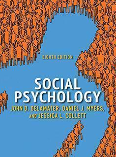 Social Psychology DeLamater 8th Edition 2019 - روانپزشکی