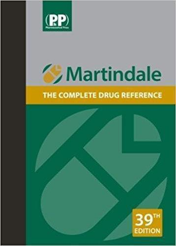Martindale: The complete drug reference 5 vol  2017 - فارماکولوژی