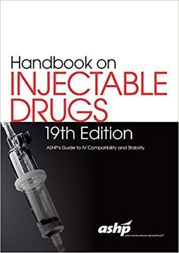 Handbook on Injectable Drugs   2016 - فارماکولوژی