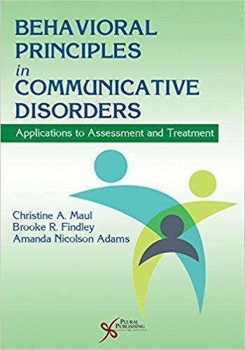 Behavioral Principles in Communicative Disorders  2015 - روانپزشکی