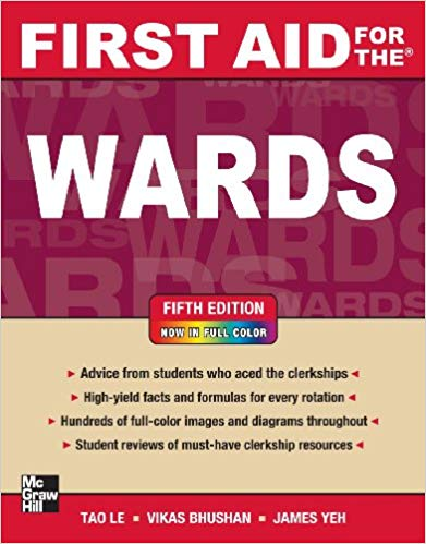 First Aid for the Wards, Fifth Edition  2013 - آزمون های امریکا Step 2