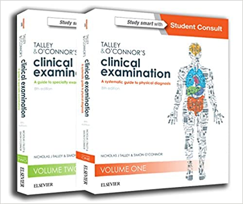 Talley & O Connor Clinical Examination  2 Vol 2018+dvd - آزمون های استرالیا