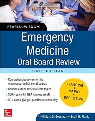 Emergency Medicine Oral Board Review: Pearls of Wisdom 2016 - اورژانس