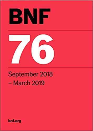BNF 76 (British National Formulary) September 2018 - فارماکولوژی