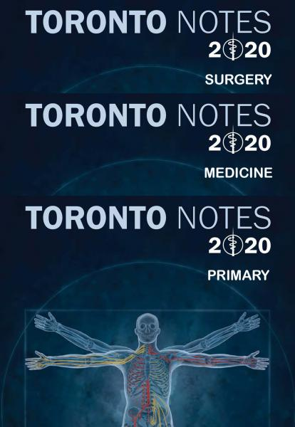 Toronto Notes 2020 3 vol 36th Edition+dvd