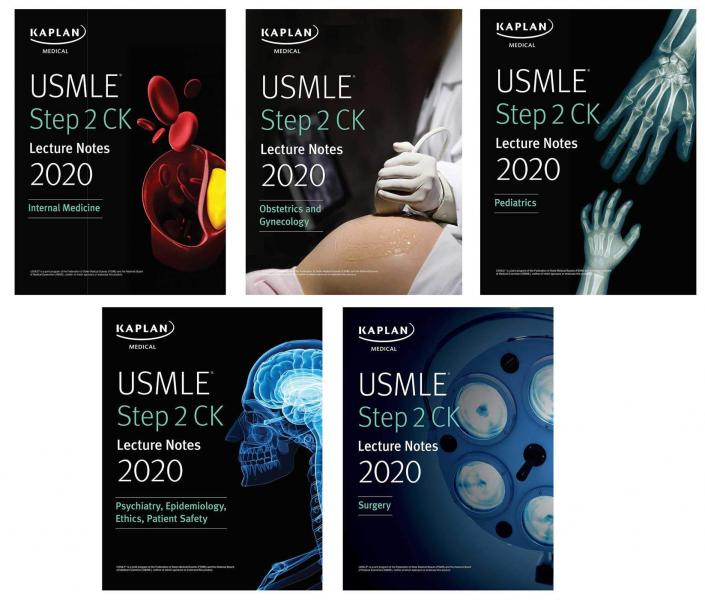 USMLE Step 2 CK Lecture Notes Kaplan 5 vol Kamel 2020+dvd - آزمون های امریکا Step 2